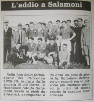 Stefano Salomoni Carriera stagioni, presenze, goal